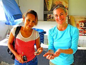 kristin-with-turtle-aquaponics-project